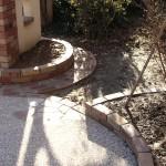 レンガの花壇