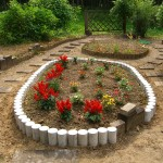 花壇の土留め