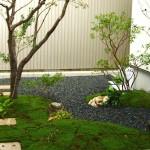 苔生す坪庭
