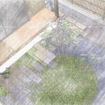 坪庭のイメージパース