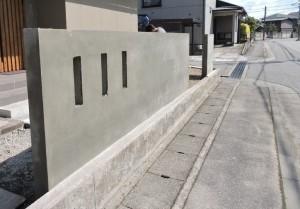ブロック塀 下塗り後