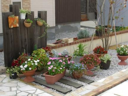 フォーカルポイント 花壇