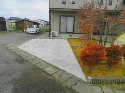 駐車スペース施工後