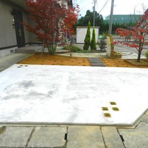 駐車スペース・庭 完工