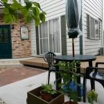 ウッドデッキとテラスの似合う庭