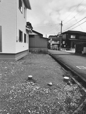 道路境界 Before