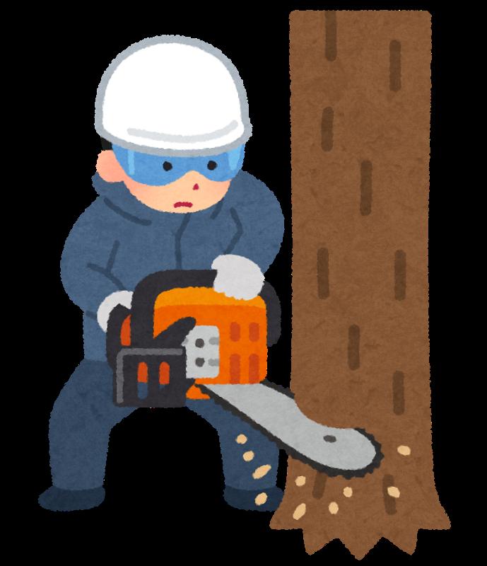 「木を切る イラスト」の画像検索結果